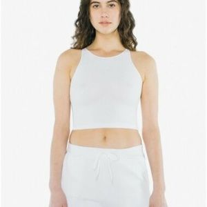 American Apparel Cotton Sleeveless Crop Top